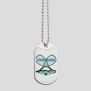 Personalized Racquetball Dog Tags