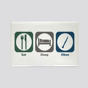Eat Sleep Oboe Rectangle Magnet