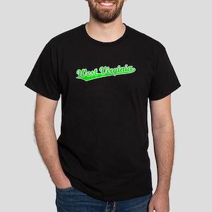 Retro West Virginia (Green) Dark T-Shirt
