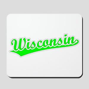 Retro Wisconsin (Green) Mousepad