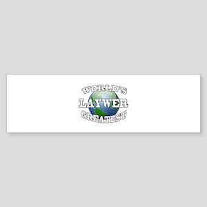 WORLD'S GREATEST LAWYER Bumper Sticker