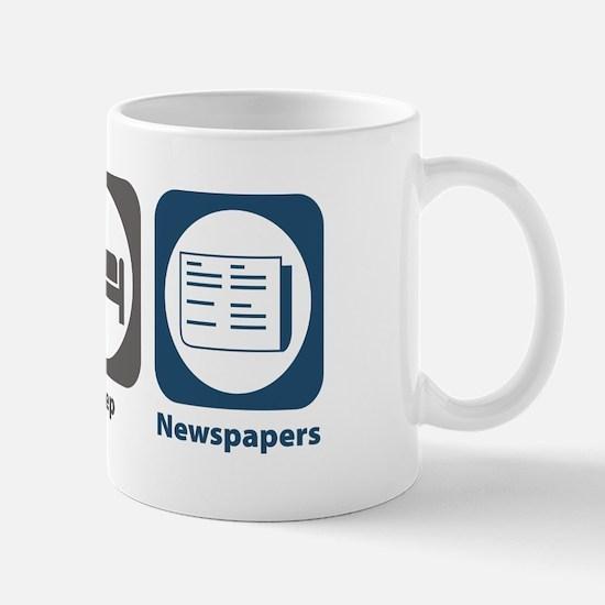 Eat Sleep Newspapers Mug