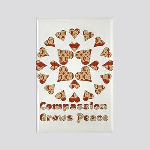 Compassion Grows Peace Rectangle Magnet