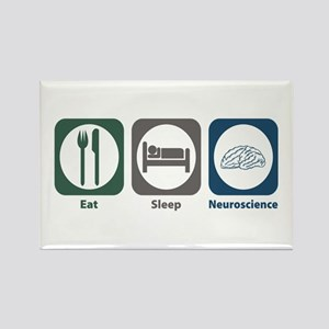 Eat Sleep Neuroscience Rectangle Magnet