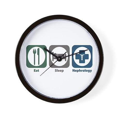 Eat Sleep Nephrology Wall Clock