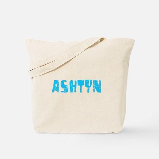 Ashtyn Faded (Blue) Tote Bag
