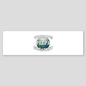 WORLD'S GREATEST PEEPA Bumper Sticker