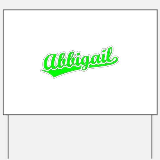 Retro Abbigail (Green) Yard Sign