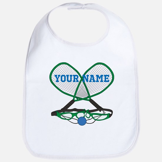 Personalized Racquetball Baby Bib