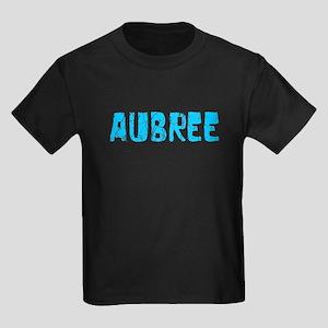 Aubree Faded (Blue) Kids Dark T-Shirt