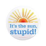 """Global Warming Sun 3.5"""" Button"""