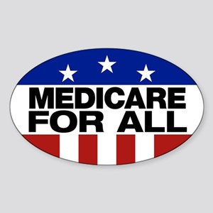 Medicare For All Sticker (oval)