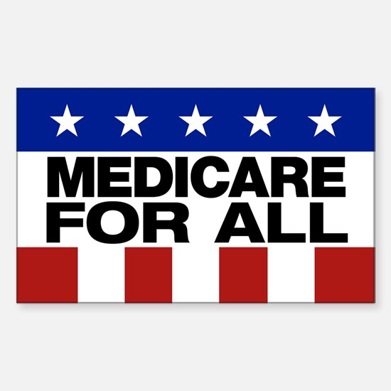 Medicare For All Sticker (rectangle)