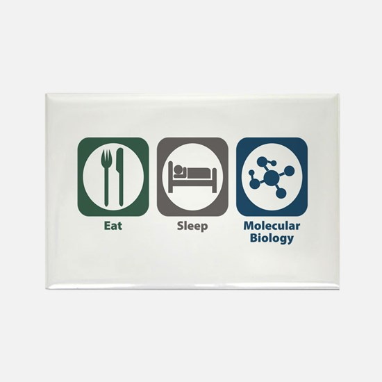 Eat Sleep Molecular Biology Rectangle Magnet