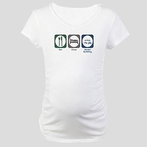Eat Sleep Model Building Maternity T-Shirt