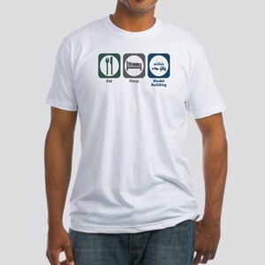 Eat Sleep Model Building Fitted T-Shirt