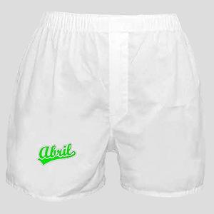 Retro Abril (Green) Boxer Shorts