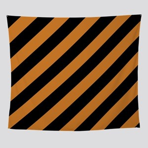 Orange Striped Wall Tapestry