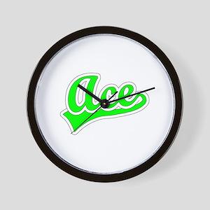 Retro Ace (Green) Wall Clock