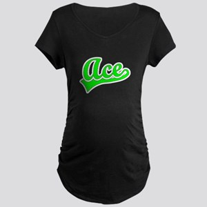 Retro Ace (Green) Maternity Dark T-Shirt