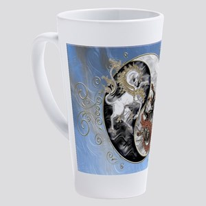 Harvest Moons Unicorn Yin Yang 17 oz Latte Mug