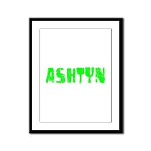 Ashtyn Faded (Green) Framed Panel Print