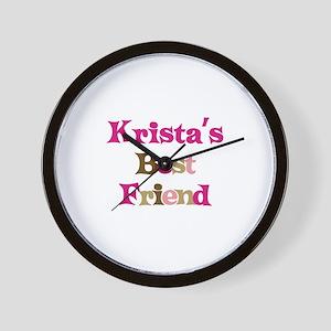 Krista's Best Friend Wall Clock
