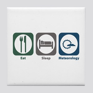 Eat Sleep Meteorology Tile Coaster