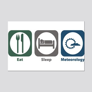 Eat Sleep Meteorology Mini Poster Print
