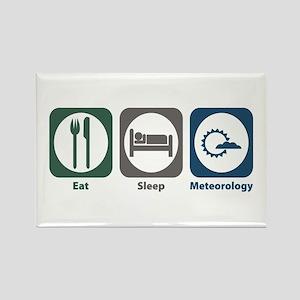 Eat Sleep Meteorology Rectangle Magnet