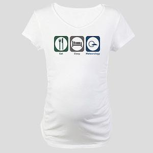 Eat Sleep Meteorology Maternity T-Shirt