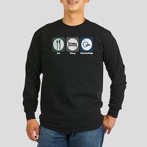 Eat Sleep Meteorology Long Sleeve Dark T-Shirt