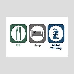 Eat Sleep Metal Working Mini Poster Print