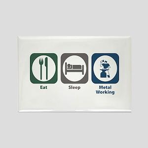 Eat Sleep Metal Working Rectangle Magnet