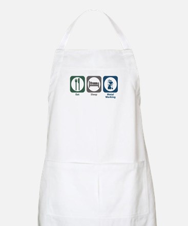 Eat Sleep Metal Working BBQ Apron