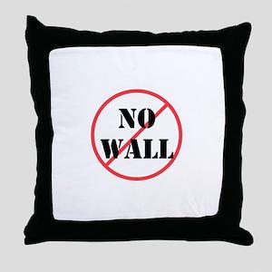 No wall, no deportations Throw Pillow