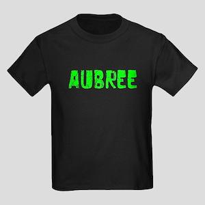 Aubree Faded (Green) Kids Dark T-Shirt