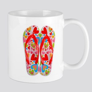 FLIP FLOPS WITH HEARTS Mugs