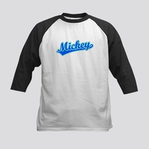 Retro Mickey (Blue) Kids Baseball Jersey