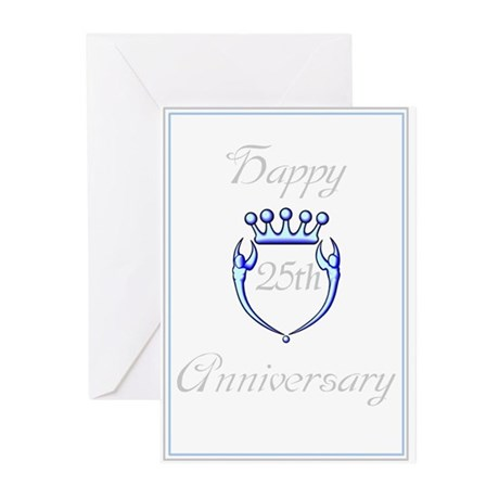 HAPPY 25TH ANNIVERSARY Cards (Pk of 10)