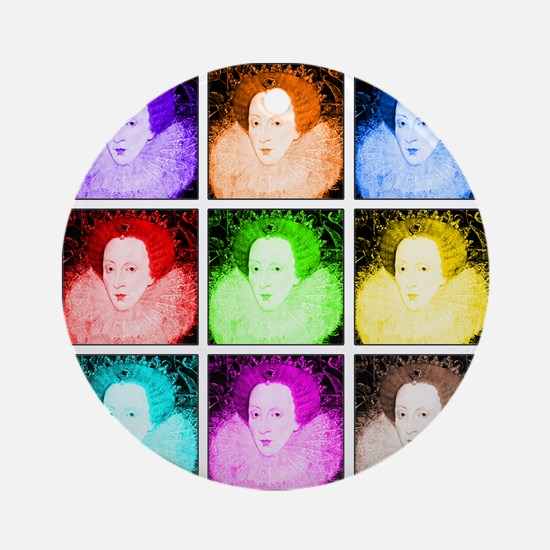 Pop Art Elizabeth I Ornament (Round)