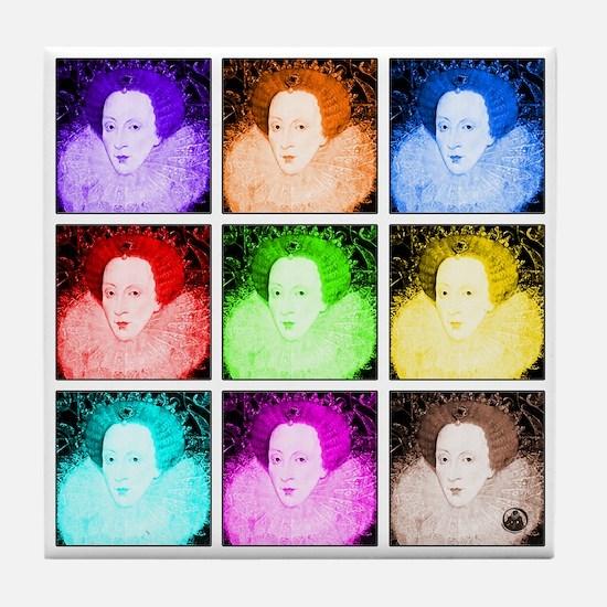Pop Art Elizabeth I Tile Coaster
