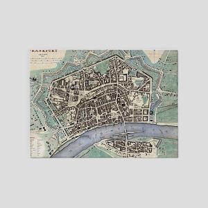 Vintage Map of Frankfurt Germany (1 5'x7'Area Rug