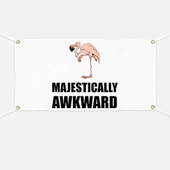 Majestically Awkward Flamingo Banner