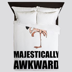 Majestically Awkward Flamingo Queen Duvet