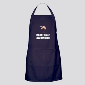 Majestically Awkward Flamingo Apron (dark)