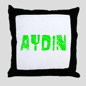 Aydin Faded (Green) Throw Pillow