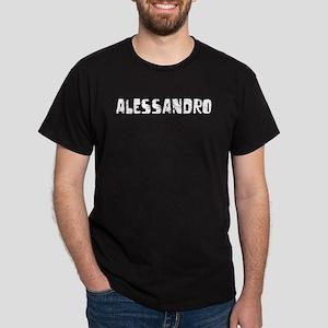 Alessandro Faded (Silver) Dark T-Shirt