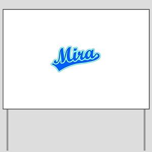 Retro Mira (Blue) Yard Sign
