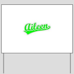 Retro Aileen (Green) Yard Sign